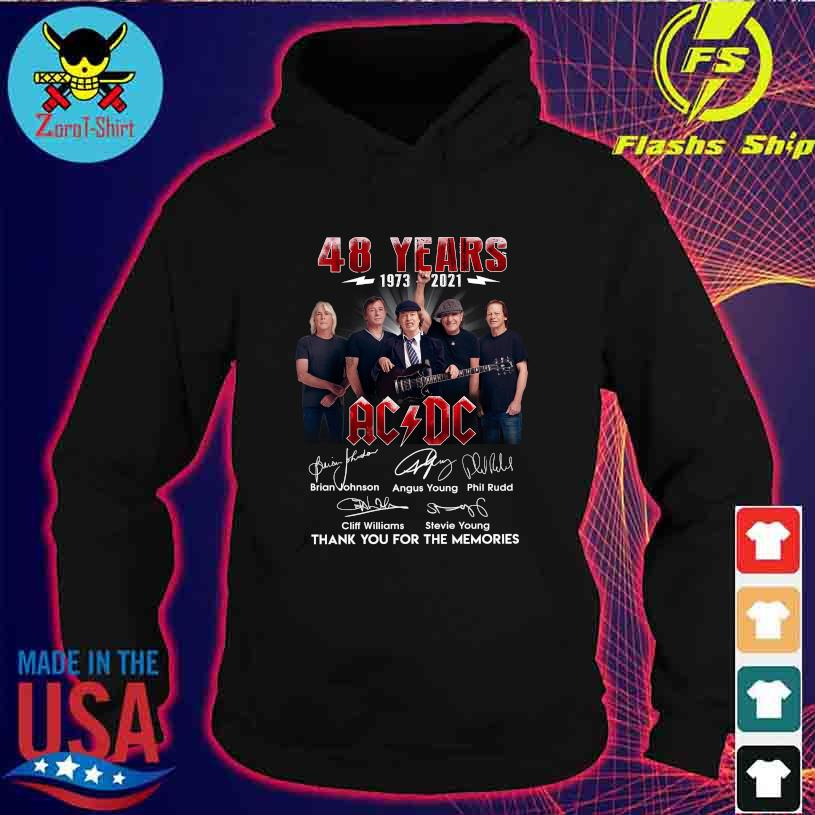 48 Years 1973 2021 AC DC Brian Johnson Angus Young signatures s hoodie
