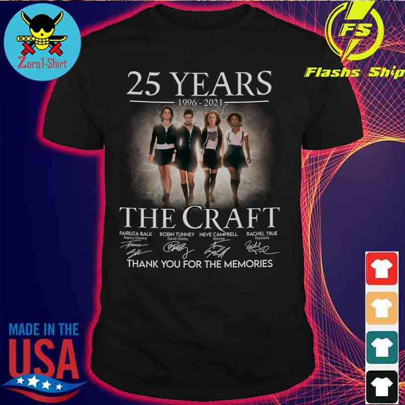 25 Years 1996 2021 The Craft thank You for the memories signatures shirt