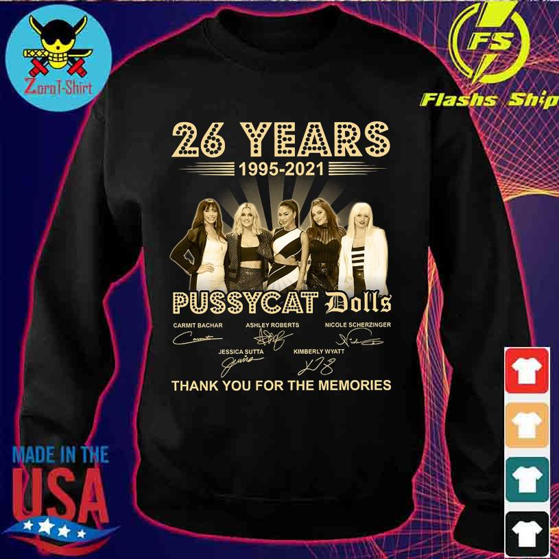 26 Years 1995 2021 Pussycay Dolls thank You for the memories signatures s sweater