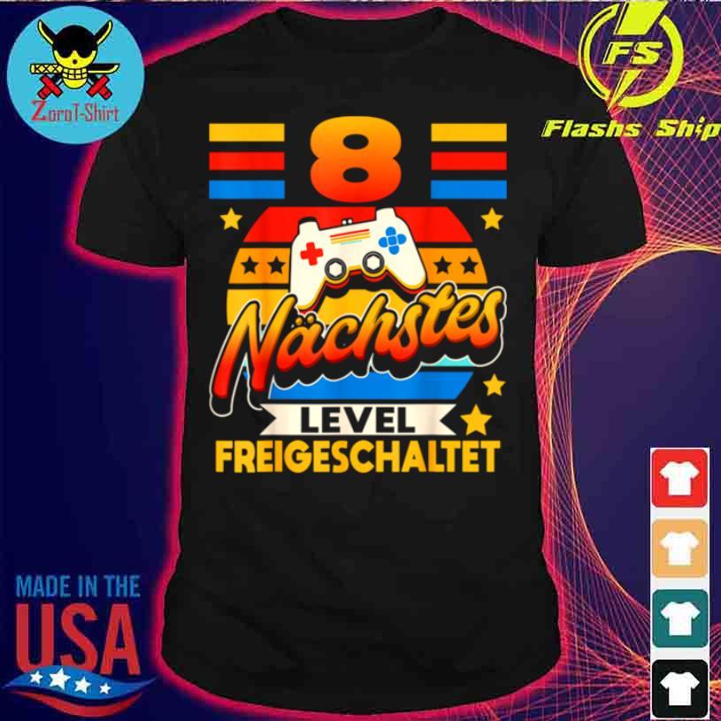 Achter Geburtstag Junge 8 Jahre Alt Achtjähriger Gamer Shirt